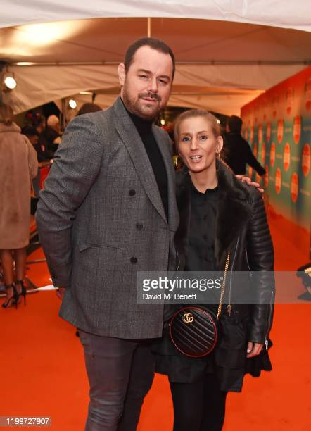 Danny Dyer and Joanne Mas arrive at the gala performance of Cirque De Soleil's LUIZA at The Royal Albert Hall on January 15 2020 in London England