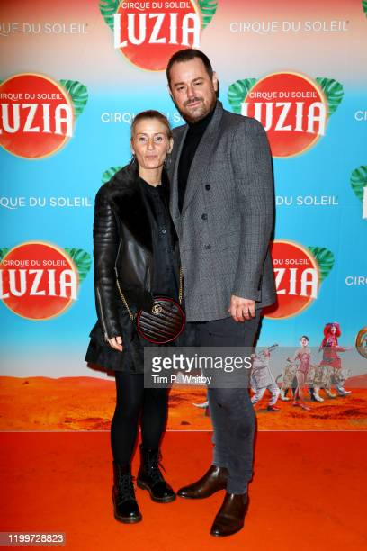 Danny Dyer and Joanne Mas attend Cirque du Soleil's LUZIA at Royal Albert Hall on January 15 2020 in London England