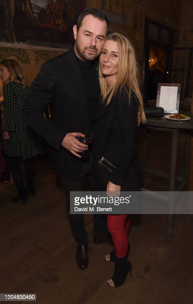 Danny Dyer and Joanne Mas attend the press night after party for Pretty Woman at The Ham Yard Hotel on March 2 2020 in London England