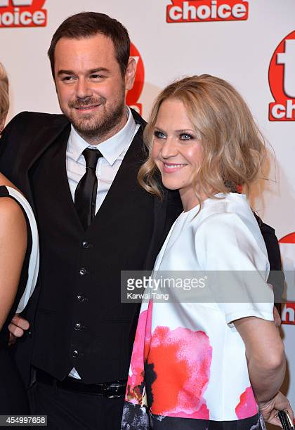 Danny Dyer and Joanne Mas attend the TV Choice Awards 2014 at London Hilton on September 8 2014 in London England
