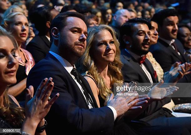 Danny Dyer and Kellie Bright at the 21st National Television Awards at The O2 Arena on January 20 2016 in London England