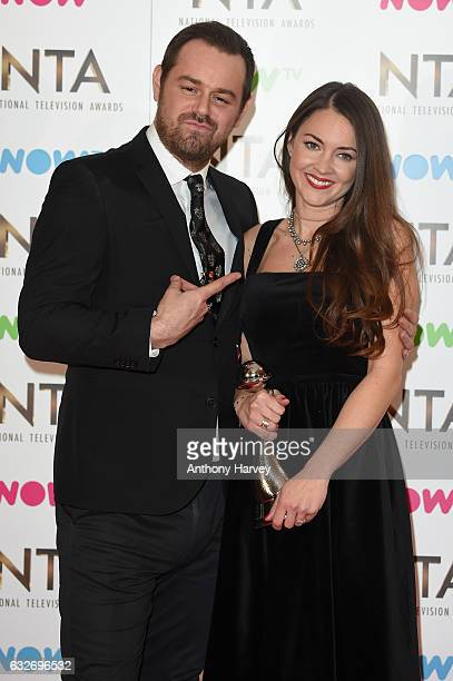 Danny Dyer and Lacey Turner with the award for Best Serial Drama Performance during the National Television Awards at The O2 Arena on January 25 2017...