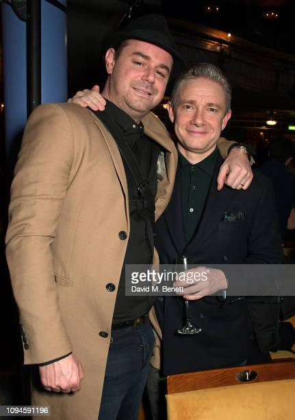 Danny Dyer and Martin Freeman attend the press night after party for Pinter At The Pinter Pinter Seven A Slight Ache The Dumb Waiter at the Harold...