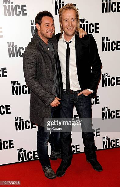 Danny Dyer and Rhys Ifans arrive at the UK film premiere of 'Mr Nice' at the Cineworld Cinemas Haymarket on October 4 2010 in London England