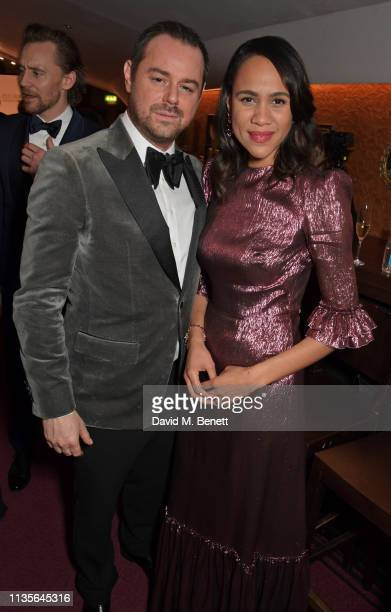 Danny Dyer and Zawe Ashton attend The Olivier Awards 2019 with Mastercard at The Royal Albert Hall on April 7 2019 in London England