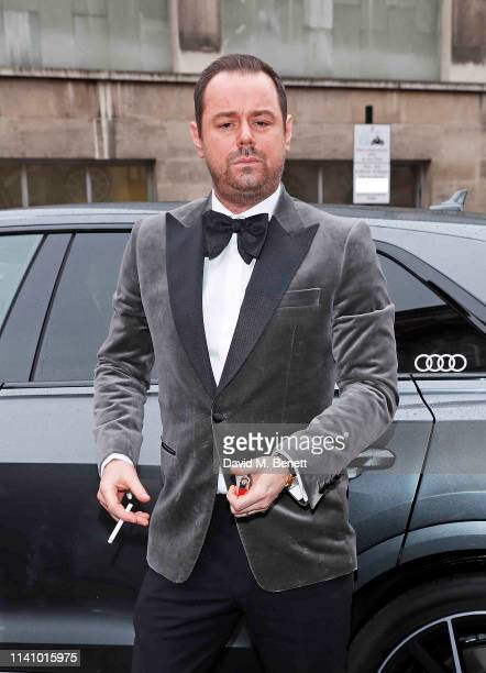 Danny Dyer arrives in an Audi at the Olivier Awards 2019 at Royal Albert Hall on April 07 2019 in London England