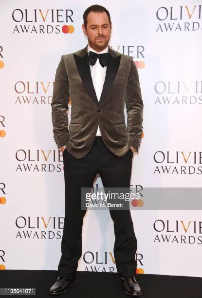Danny Dyer poses in the press room at The Olivier Awards 2019 with Mastercard at The Royal Albert Hall on April 7 2019 in London England