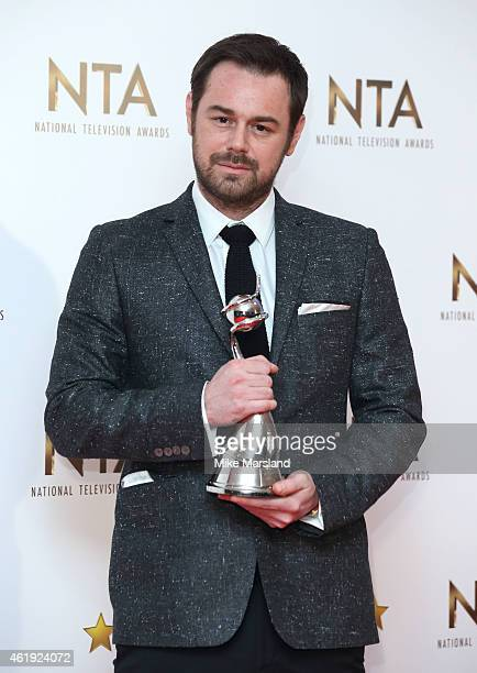 Danny Dyer poses in the winners room at the National Television Awards at 02 Arena on January 21 2015 in London England