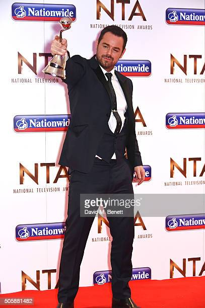 Danny Dyer winner of the Serial Drama Performance award attends the 21st National Television Awards at The O2 Arena on January 20 2016 in London...