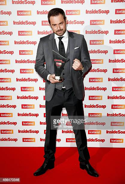 Danny Dyer with his Best Actor award for Eastenders attends the Inside Soap Awards at Dstrkt on October 1 2014 in London England