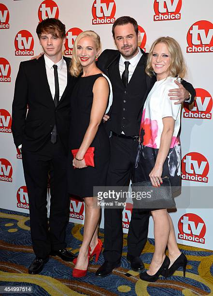 Danny Dyer with his partner Joanne Mas and his two children attend the TV Choice Awards 2014 at London Hilton on September 8 2014 in London England