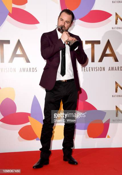 Danny Dyer with the award for Serial Drama Performance during the National Television Awards held at The O2 Arena on January 22 2019 in London England