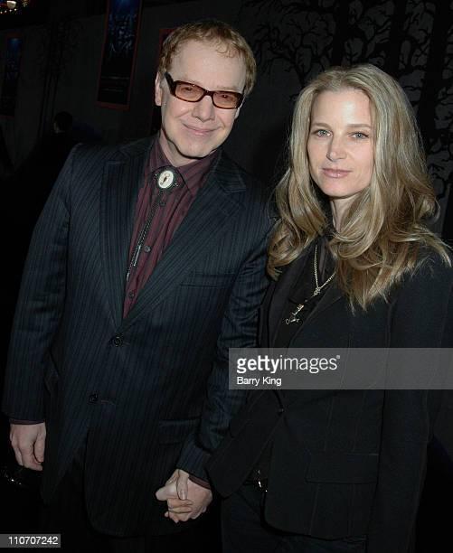 Danny Elfman and Bridget Fonda during Tim Burton's Nightmare Before Christmas 3D World Premiere Black Carpet at El Capitan Theatre in Hollywood CA...