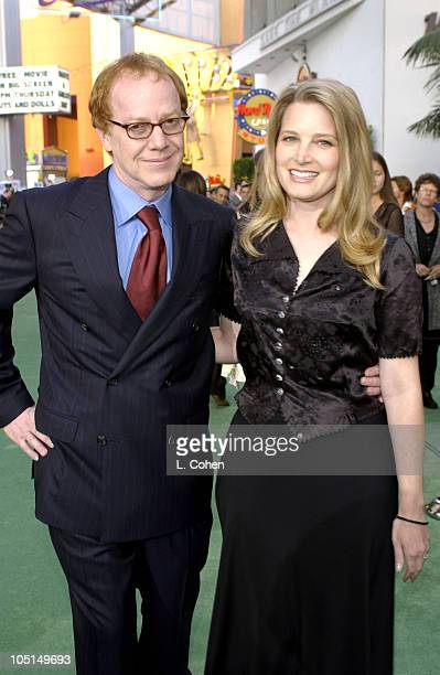 Danny Elfman and Bridget Fonda during World Premiere Of The Hulk Hollywood Green Carpet at Universal Amphitheatre in Universal City California United...