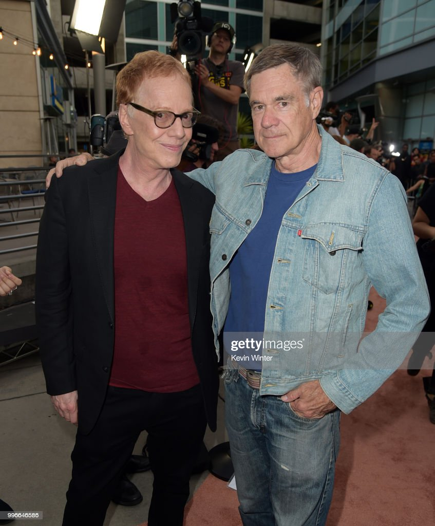 Danny Elfman (L) and Gus Van Sant attend Amazon Studios premiere of 'Don't Worry, He Wont Get Far On Foot' at ArcLight Hollywood on July 11, 2018 in Hollywood, California.
