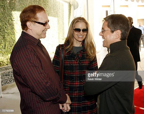 Danny Elfman and his wife actress Bridget Fonda talk with Paramount's Brad Grey at the Los Angeles premiere of Paramount's Charlotte's Web at the...