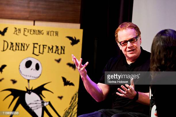 Danny Elfman and Scott Goldman at the Grammy Museum for an evening with Danny Elfman on June 8 2011 in Los Angeles California