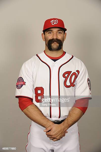 Danny Espinosa of the Washington Nationals poses during Photo Day on Sunday March 1 2015 at Space Coast Stadium in Viera Florida