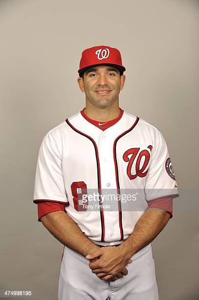 Danny Espinosa of the Washington Nationals poses during Photo Day on February 23 2014 at Space Coast Stadium in Viera Florida
