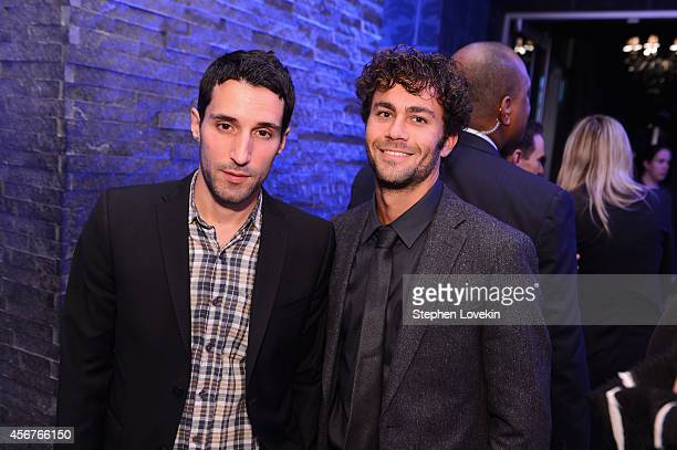 Danny Fischer and Michael Godere attend the premiere of SHOWTIME drama The Affair held at North River Lobster Company on October 6 2014 in New York...