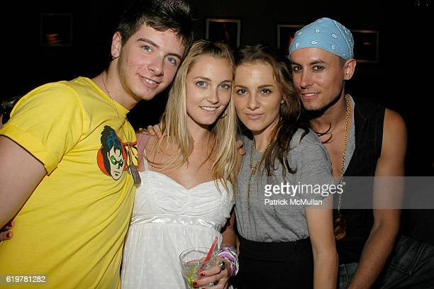 Danny Frankson Jasmine Snow Lysee Webb and Galen Drever attend Patrick McMullan HEATHERETTE LIFE BALL PHOTO SLIDE SHOW PARTY at Venue on June 11 2007...