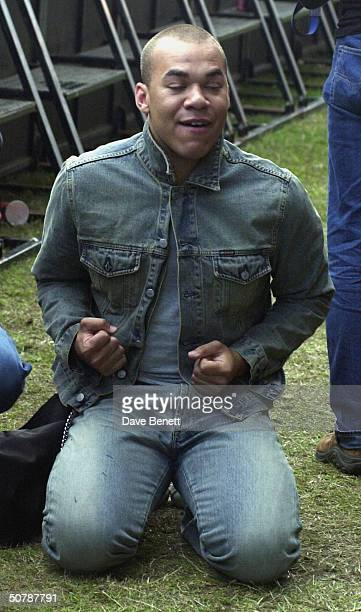 Danny from Hearsay at Party In The Park 2001 at Hyde Park on July 8 2001 in London