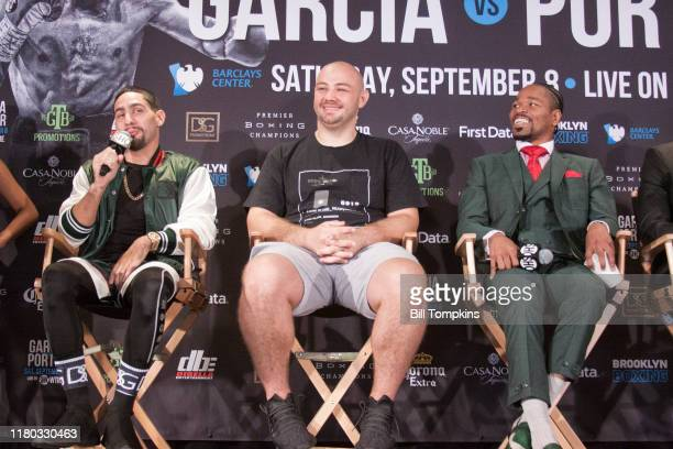 Danny Garcia speaks to the Press during the Final Press Conference for his upcoming fight at Dream Hotel on September 6, 2018 in Brooklyn.