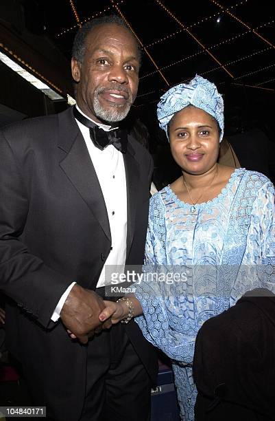 Danny Glover and Amadou Diallo's mother Kadiatou during The 2001 Essence Awards at Madison Square Garden in New York City New York United States