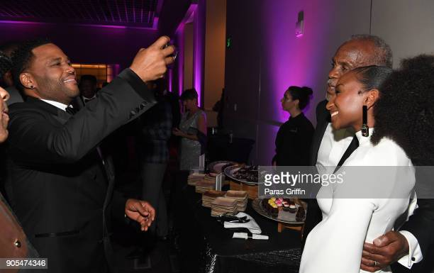 Danny Glover and Anthony Anderson attend 49th NAACP Image Awards After Party at Pasadena Civic Auditorium on January 15 2018 in Pasadena California
