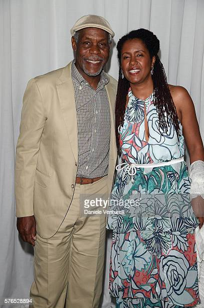 Danny Glover and Asake Bomani attend the 2016 Ischia Global Film Music Fest on July 15 2016 in Ischia Italy
