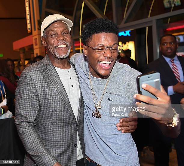 Danny Glover and DC Young Fly attend 'Almost Christmas' Atlanta screening at Regal Cinemas Atlantic Station Stadium 16 on October 26 2016 in Atlanta...
