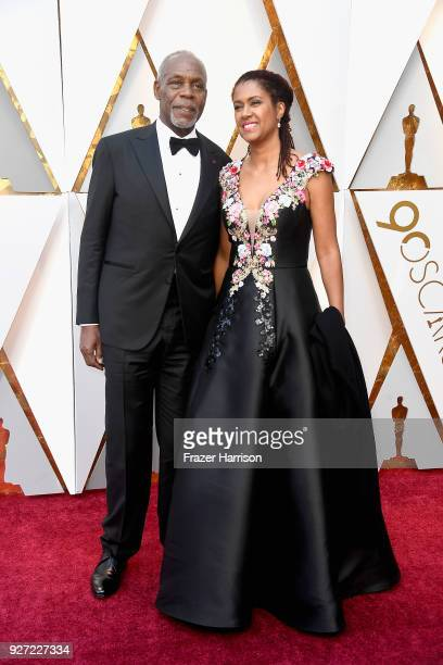 Danny Glover and Eliane Cavalleiro attend the 90th Annual Academy Awards at Hollywood Highland Center on March 4 2018 in Hollywood California