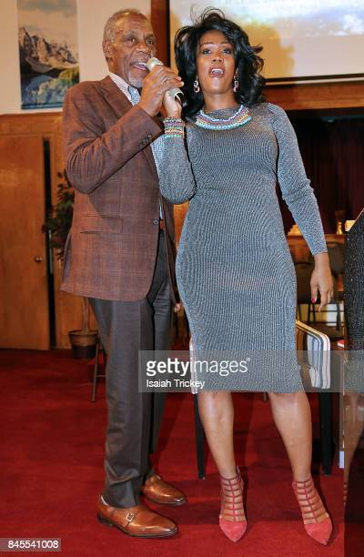 Danny Glover and Gwyn Chapman attend An Evening With Actor And Activist Danny Glover at First Baptist Church on September 10 2017 in Toronto Canada