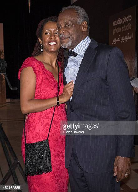 Danny Glover and his wife Asake Bomani pose during 'The Narrow Frame Of Midnight' Photocall as part of the 14th Marrakech International Film Festival...