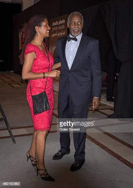 Danny Glover and his wife Asake Bomani poses during 'The Narrow Frame Of Midnight' Photocall as part of the 14th Marrakech International Film...