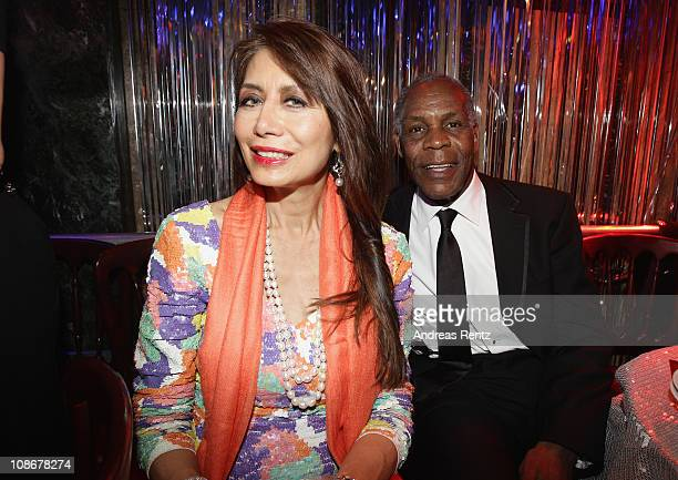 Danny Glover and his wife attend the Lambertz Monday Night 2011 Schoko Fashion party at the Alten Wartesaal on January 31 2011 in Cologne Germany