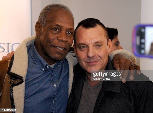 Danny Glover and Tom Sizemore attend the LG Music Lodge on January 17 2014 in Park City Utah