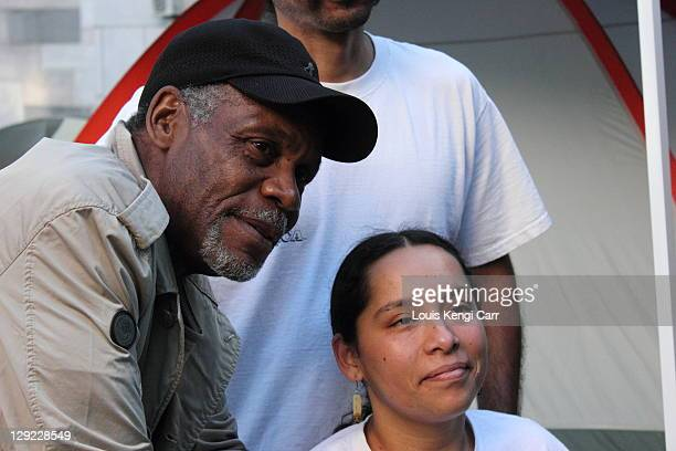 Danny Glover at the Occupy LA camp at the Los Angeles City Hall.