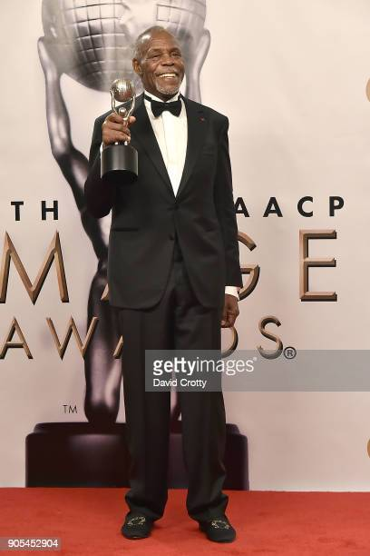Danny Glover attends the 49th NAACP Image Awards Press Room at Pasadena Civic Auditorium on January 15 2018 in Pasadena California