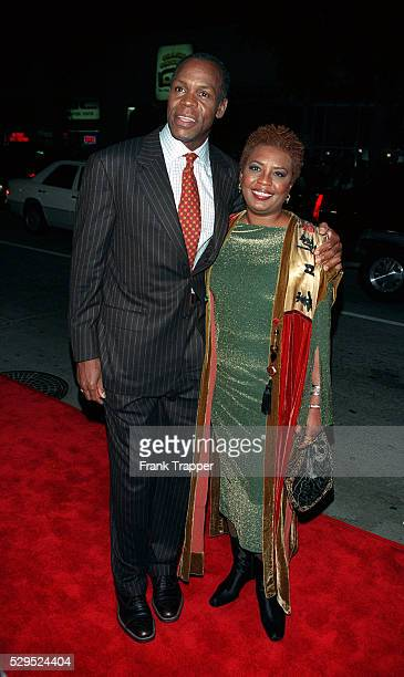 Danny Glover costar of the movie arrives with his wife Asaka