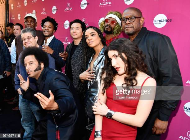 Danny Glover, Jermaine Fowler, Patton Oswalt, Boots Riley, Steven Yeun, Tessa Thompson, Lakeith Stanfield, Forest Whitaker, and Kate Berlant attend...