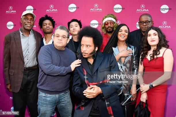 Danny Glover, Jermaine Fowler, Patton Oswalt, Steven Yeun, Boots Riley, Lakeith Stanfield, Tessa Thompson, Forest Whitaker, and Kate Berlant attend...
