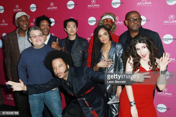 Danny Glover, Jermaine Fowler, Patton Oswalt, Steven Yeun, Boots Riley, Lakeith Stanfield, Tessa Thompson, Kate Berlant, and Forest Whitaker attend...