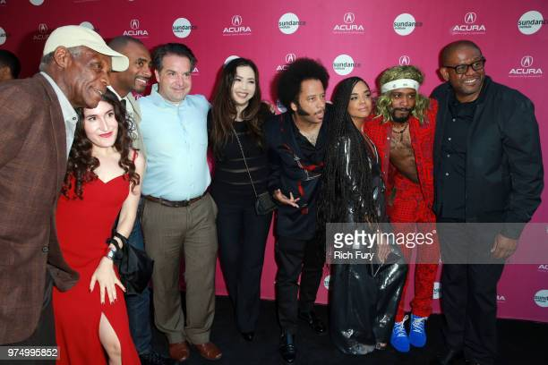 Danny Glover, Kate Berlant, Charles King, George Rush, Nina Yang Bongiovi, Boots Riley, Tessa Thompson, Lakeith Stanfield, and Forest Whitaker attend...