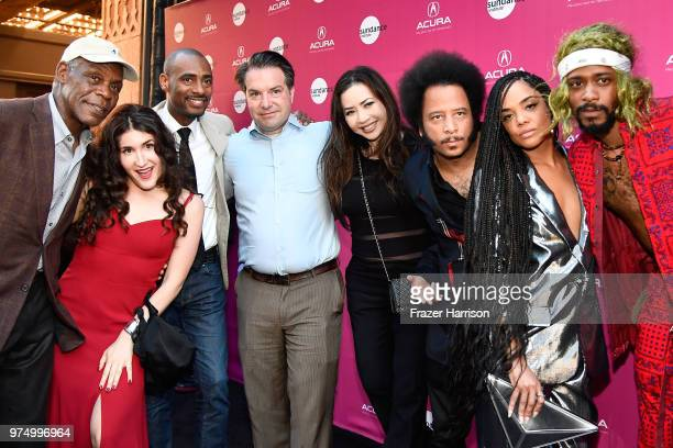 Danny Glover, Kate Berlant, Charles King, George Rush, Nina Yang Bongiovi, Boots Riley, Tessa Thompson, and Lakeith Stanfield attend the Sundance...