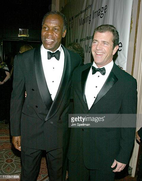 Danny Glover Mel Gibson during The 17th Annual American Museum of the Moving Image Salute to Mel Gibson at The Waldorf Astoria Hotel in New York City...