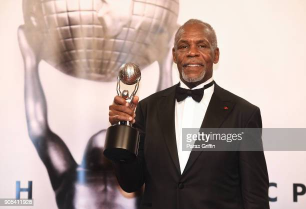 Danny Glover recipient of the NAACP President's Award poses in the press room for the 49th NAACP Image Awards at Pasadena Civic Auditorium on January...