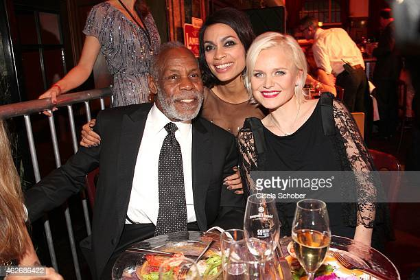 Danny Glover Rosario Dawson Barbara Sturm during the Lambertz Monday Night 2015 at Alter Wartesaal on February 2 2015 in Cologne Germany