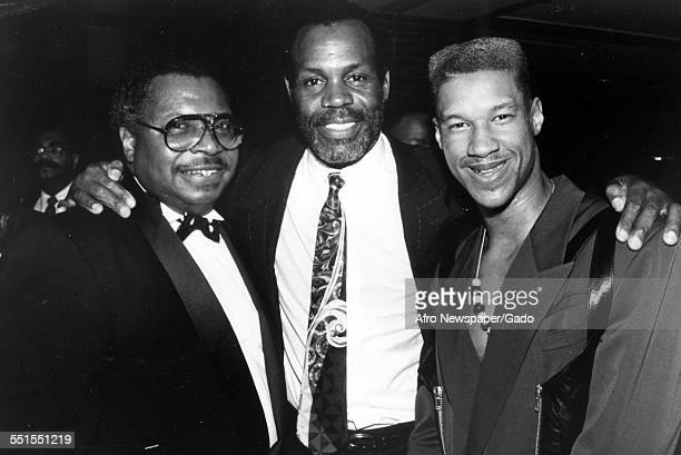 Danny Glover the AfricanAmerican actor with two people 1904