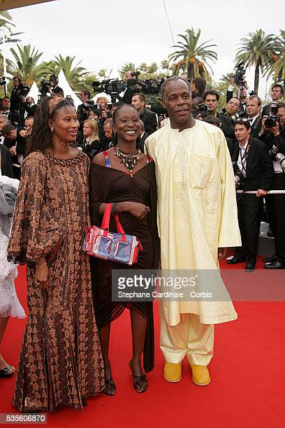 Danny Glover with his wife and daughter at the premiere of Babel during the 59th Cannes Film Festival